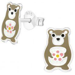 cercei argint pentru copii ursulet
