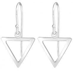 cercei din argint triunghi