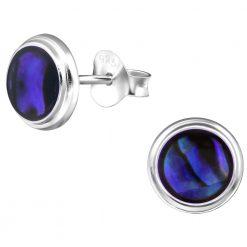 cercei opal abalone dark blue