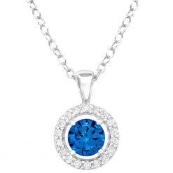 colier argint blue crystal