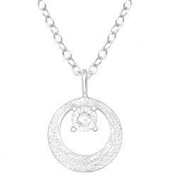 colier argint circle zirconiu