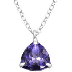 colier argint swarovski purple