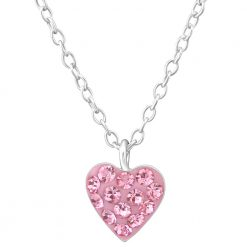 colier rose heart